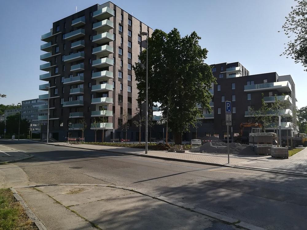 Karlín park – nové byty u metra Invalidovna