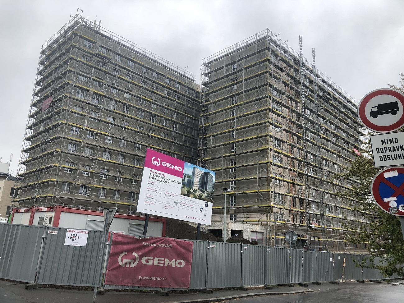 Rekonstrukce pražského Hotelu Fortuna City