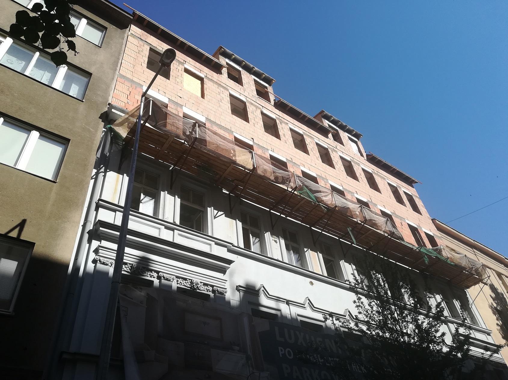 Terasové byty na pražské ulici Záhřebská